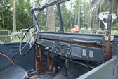 """German retro car Horch-901 at the 3rd international forum of """"Engines of war"""" near the city Chernogolovka, Moscow region,  cabin — Stock Photo"""