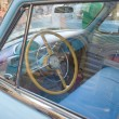 "Soviet blue car ""Volga"" GAZ-21 retro rally Gorkyclassic about Gum, Moscow, view of the driver's seat — Stock Photo #53460381"