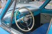 советский ретро-автомобиль «волга» газ-21 ретро-ралли gorkyclassic салону резинки, москва — Стоковое фото
