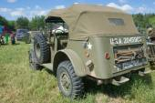"""Retro car Dodge WC-57 Command Car at the 3rd international meeting of """"Engines of war"""" near the city Chernogolovka, Moscow region, rear view — Foto Stock"""