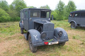 "German ambulance Phenomenon Granite-25 Kfz.31, front view, 3rd international meeting ""Engines of war"" near the city Chernogolovka, Moscow region — Stock Photo"