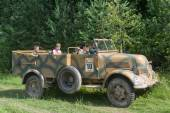 "German car Phenomenon Granite-1500A (Kfz.70), 3rd international meeting ""Motors war"" near the city Chernogolovka, Moscow region — Stock Photo"