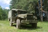 """Amerykański stare wojskowe Dodge Wc-51-retro rajdu, Iii międzynarodowe spotkanie """"silniki wojny"""" w pobliżu miasta Chernogolovka, Moscow region — Zdjęcie stockowe"""