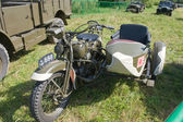 """Japanese old military Rikuo motorcycle Type 97 at the 3rd international meeting of """"Motors of war"""" near the city Chernogolovka — Stock Photo"""