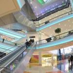 "The interior of the new shopping centre ""Kaleidoscope"" near the metro station ""Skhodnenskaya"", Moscow — Stock Photo #56974935"