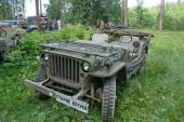 """American retro car Willys MB at the 3rd international meeting of """"Motors of war"""" near the town of Chernogolovka, Moscow region  Willys MB — Photo"""