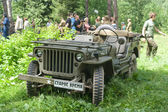 """American retro car Willys MB at the 3rd international meeting of """"Motors of war"""" near the town of Chernogolovka, Moscow region — Foto de Stock"""