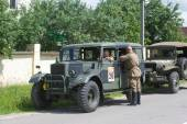 "Commander's car Humber FWD at the 3rd international meeting of ""Motors of war"" near the town of Chernogolovka, Moscow region — Stock Photo"