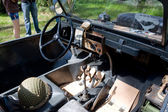 "Cabin German floating retro Volkswagen Swimmwagen Typ 166, 3rd international meeting ""Motors of war"" near the town of Chernogolovka, Moscow region — Stok fotoğraf"