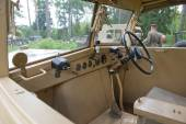 "The British commander's car Humber FWD at the 3rd international meeting of Motors of war"" near the town of Chernogolovka, Moscow region, cab interior — Stock Photo"