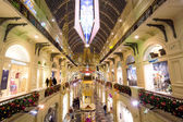Christmas interior of the Main Department Store (GUM), view from above, MOSCOW, RUSSIA — Stok fotoğraf