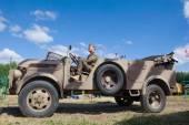 "German retro car stern Steyr 1500A 02 kfz.69, 3rd international meeting ""Motors of war"" near the city Chernogolovka, Moscow region — Stock Photo"