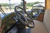 "Soviet retro truck GAZ-MM at the 3rd international meeting of ""Motors of war"" near the city Chernogolovka, cabin — Foto de Stock"