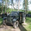 Постер, плакат: The car Humber FWD travels along a forest road 3rd international meeting Motors of war near the town of Chernogolovka Moscow region