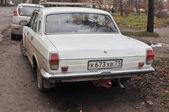 """The old Soviet prestige car GAZ-24-10 """"Volga"""", rear View — Stock Photo"""