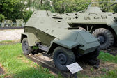 Sovětské obrněné auto Ba-64 v centrální ozbrojené síly muzeum, Moskva — Stock fotografie