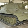 Постер, плакат: Experienced heavy tank IS 7 Joseph Stalin 7 in the Museum of armored vehicles Kubinka