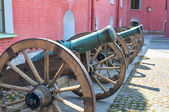 Artillery meseum in St Peter and Paul fortress, St Petersburg, R — Stock Photo