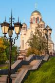 Spas-na-krovi Cathedral. Church of All Saints. Church on Blood in Honor of All Saints Resplendent in the Russian Land. Yekaterinburg. Russia — Foto Stock
