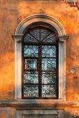 Old gungy wall with window — Stock Photo
