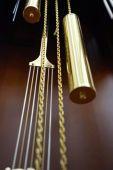 Pendulum of the antique clock close up — Стоковое фото