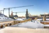 Moscow old roofs. — Stock Photo