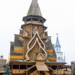 Wooden church in the Izmailovo Kremlin, Moscow, Russia — Stock Photo #66183057