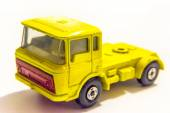 Yellow truck toy isolated on white background — Stock Photo