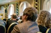 People at the conference hall. Rear view — Stock Photo