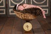 Weighing the Baby — Stock Photo