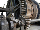 Old winch in cast mine — Stock Photo