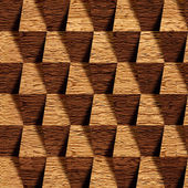Wooden blocks stacked for seamless background — Stock Photo