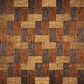 Wooden rectangular parquet stacked for seamless background. — 图库照片