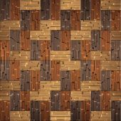 Wooden rectangular parquet stacked for seamless background. — Stok fotoğraf