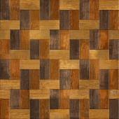 Wooden rectangular parquet stacked for seamless background. — Stock Photo