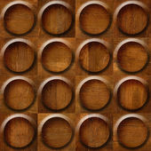 Wooden rounded abstract blocks stacked for seamless background — Stock Photo