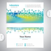 Business card - science and research - molecular structure — Stock Vector