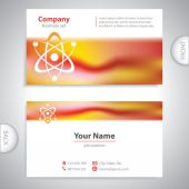 Business card - atomic Structure - laboratory research — Stock Vector