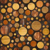 Abstract circular pattern - different colors - wooden texture — Stock Photo