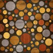 Abstract bubble pattern - different colors - wooden texture — Stock Photo