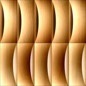 Abstract decorative paneling - seamless background - corrugated  — Stock Photo