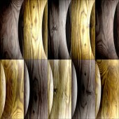 Abstract decorative paneling - seamless background - waves decor — Stock Photo