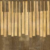 Abstract musical piano keys - seamless background - wood texture — Stock Photo