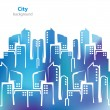 Abstract cities silhouette - business card - blank background — ストックベクタ #66669901