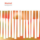 Abstract musical piano keys - business card - blank background — Stock Vector
