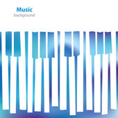 Abstract musical piano keys - business card - blank background — Wektor stockowy
