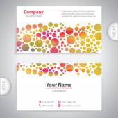 Business card - Abstract circular pattern - company presentation — Stock Vector