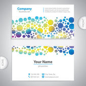Business card - Abstract bubble pattern - company presentations — Stock Vector