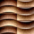 Abstract decorative paneling - seamless background - waves decor — Stock Photo #69108891
