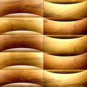Abstract paneling pattern - waves decoration - wooden texture — Stock Photo